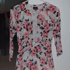Large casual children's place floral dress